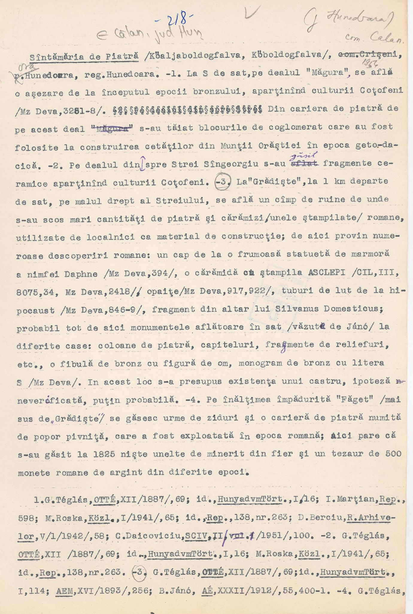 Archaeological Repertory Of Romania Archive Of The Vasile Parvan