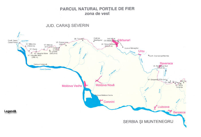 Parcul Natural Portile De Fier Zona De Est